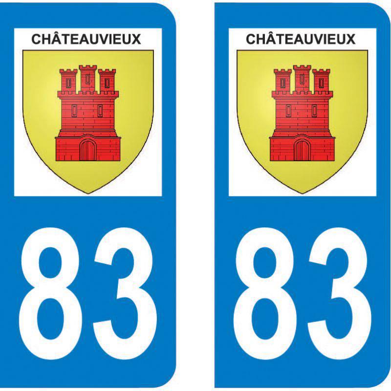 Sticker Plaque Châteauvieux 83840