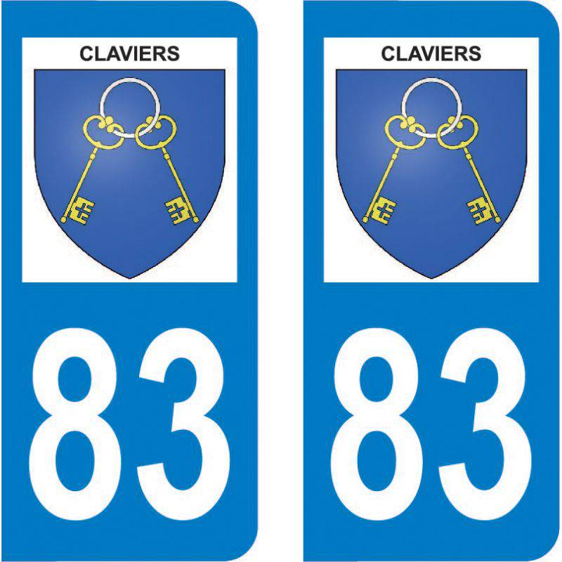 Sticker Plaque Claviers 83830