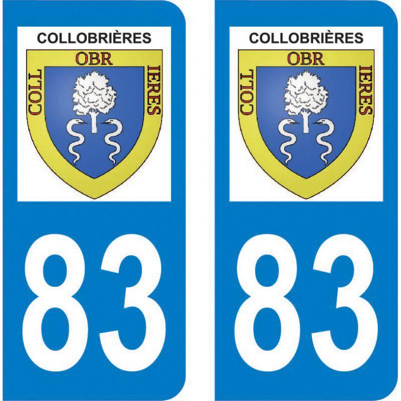 Sticker Plaque Collobrières 83610