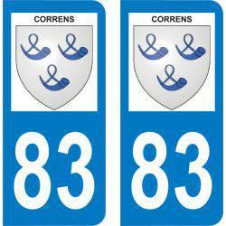 Autocollant Plaque Correns 83570