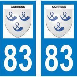 Sticker Plaque Correns 83570