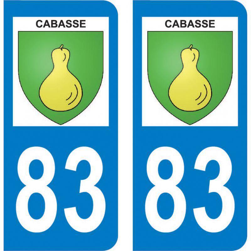 Autocollant Plaque Cabasse 83340