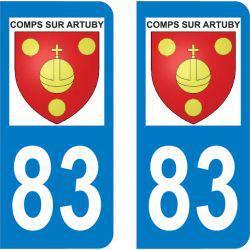 Sticker Plaque Comps-sur-Artuby 83840