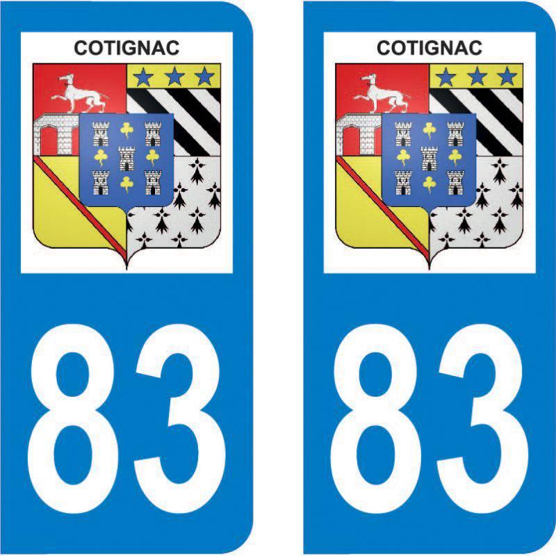 Autocollant Plaque Cotignac 83570