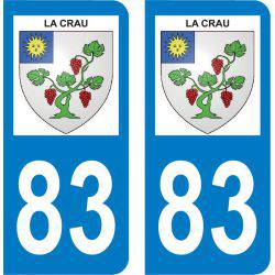 Autocollant Plaque La Crau 83260