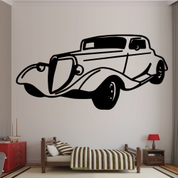 Sticker Mural Voiture