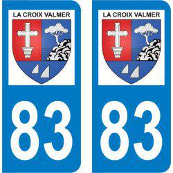 Autocollant Plaque La Croix-Valmer 83420