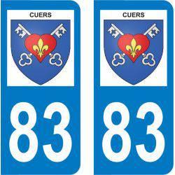 Autocollant Plaque Cuers 83390