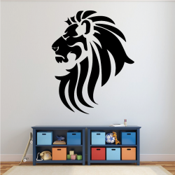Sticker Mural Lion