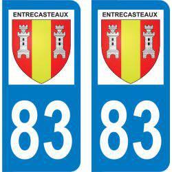 Autocollant Plaque Entrecasteaux 83570