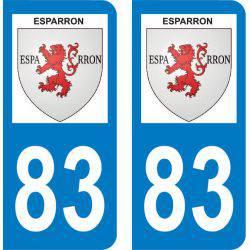 Autocollant Plaque Esparron 83560