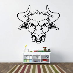 Sticker Mural Taureau