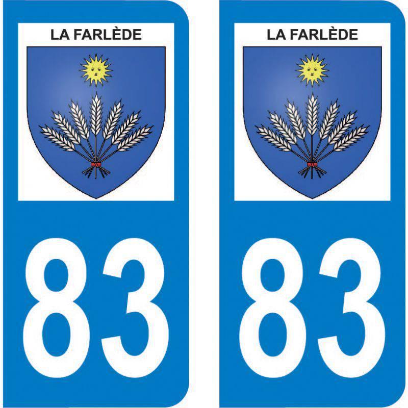 Autocollant Plaque La Farlède 83210