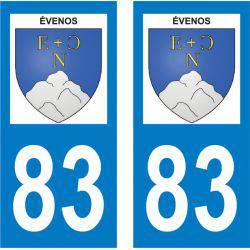 Sticker Plaque Évenos 83330