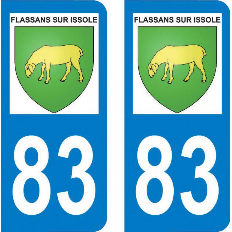 Autocollant Plaque Flassans-sur-Issole 83340