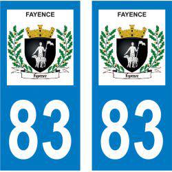 Sticker Plaque Fayence 83440