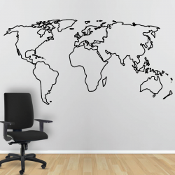 Autocollant Mural Map Monde