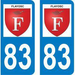 Autocollant Plaque Flayosc 83780