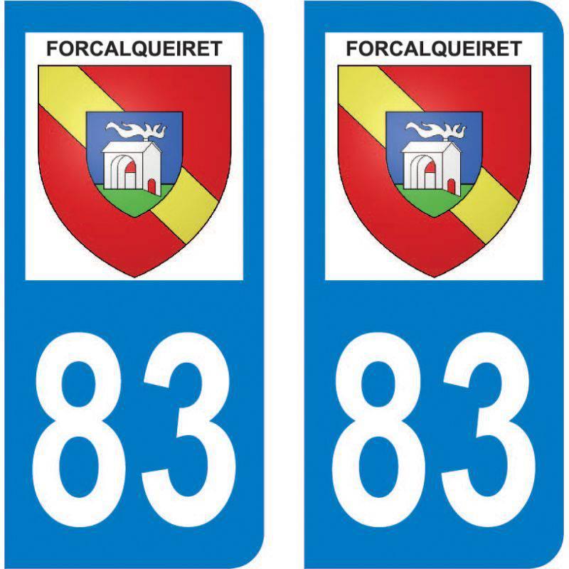 Autocollant Plaque Forcalqueiret 83136