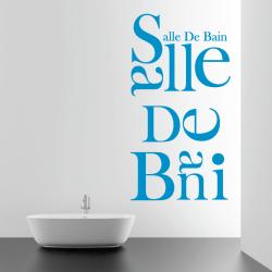 Sticker Mural Lettrage Salle De Bain - 1