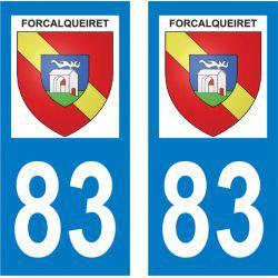 Sticker Plaque Forcalqueiret 83136