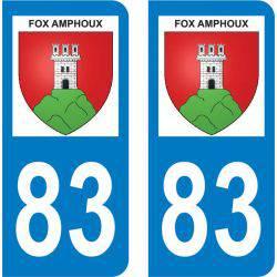 Autocollant Plaque Fox-Amphoux 83670
