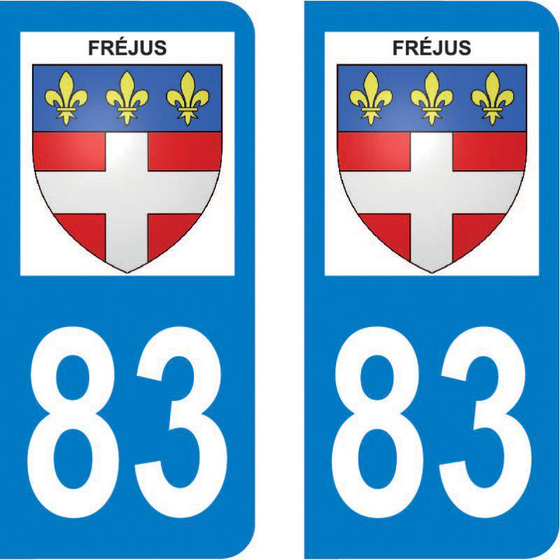 Autocollant Plaque Fréjus 83600