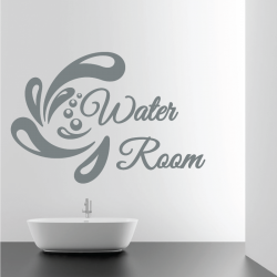 Sticker Mural Salle De Bain Water Room - 1