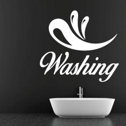 Sticker Mural Salle De Bain Washing - 1