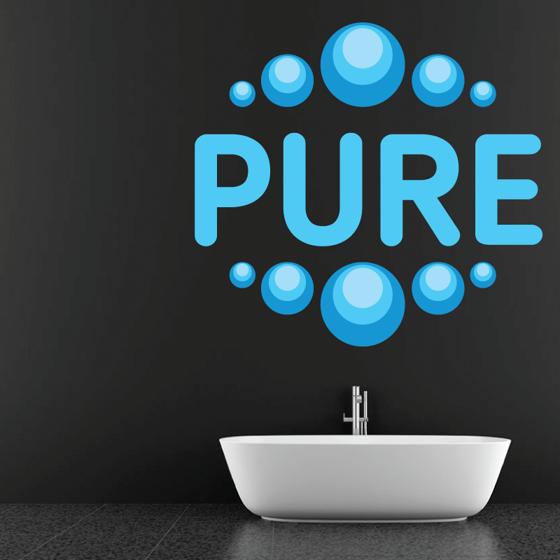 Sticker Mural Eau Pure - 1