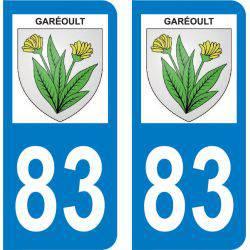 Autocollant Plaque Garéoult 83136