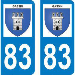 Autocollant Plaque Gassin 83579