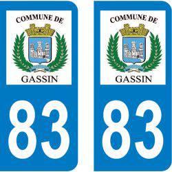Autocollant Plaque Gassin 83580