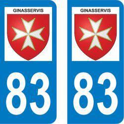 Autocollant Plaque Ginasservis 83560