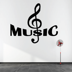 Sticker Mural Treble Clef...