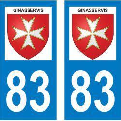Sticker Plaque Ginasservis 83560