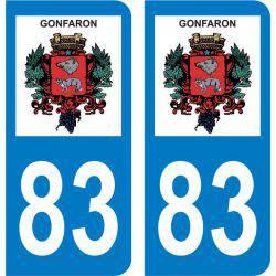 Autocollant Plaque Gonfaron 83590