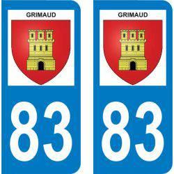 Autocollant Plaque Grimaud 83310