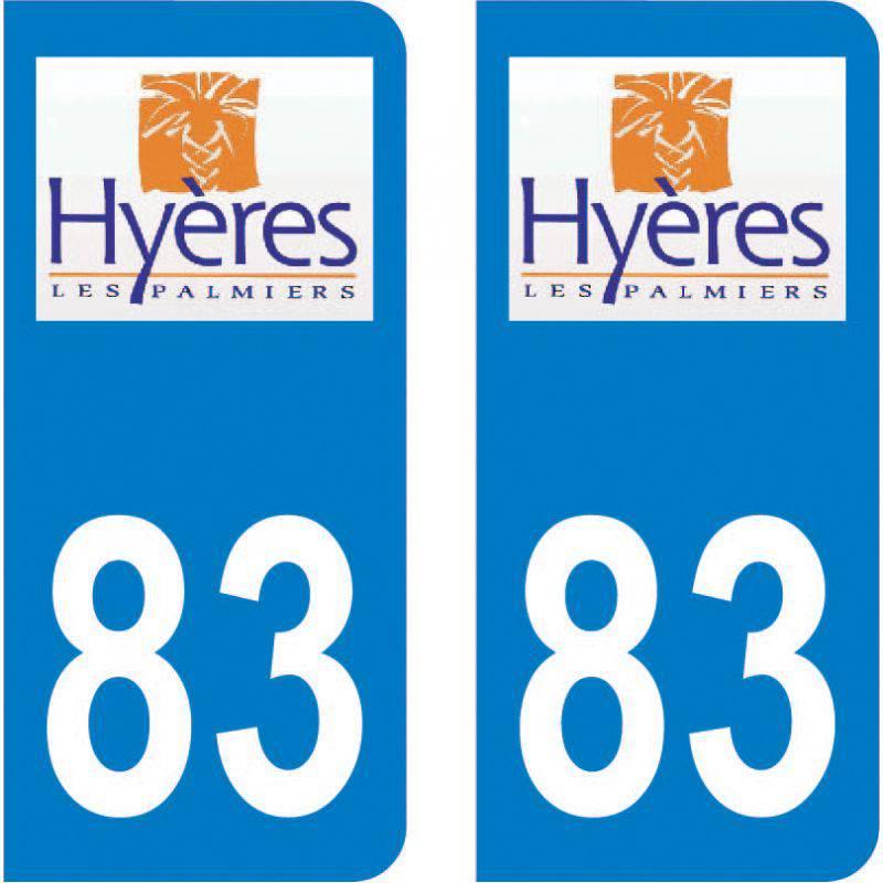 Autocollant Plaque Hyères 83400