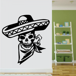 Sticker Mural Mexican Skull