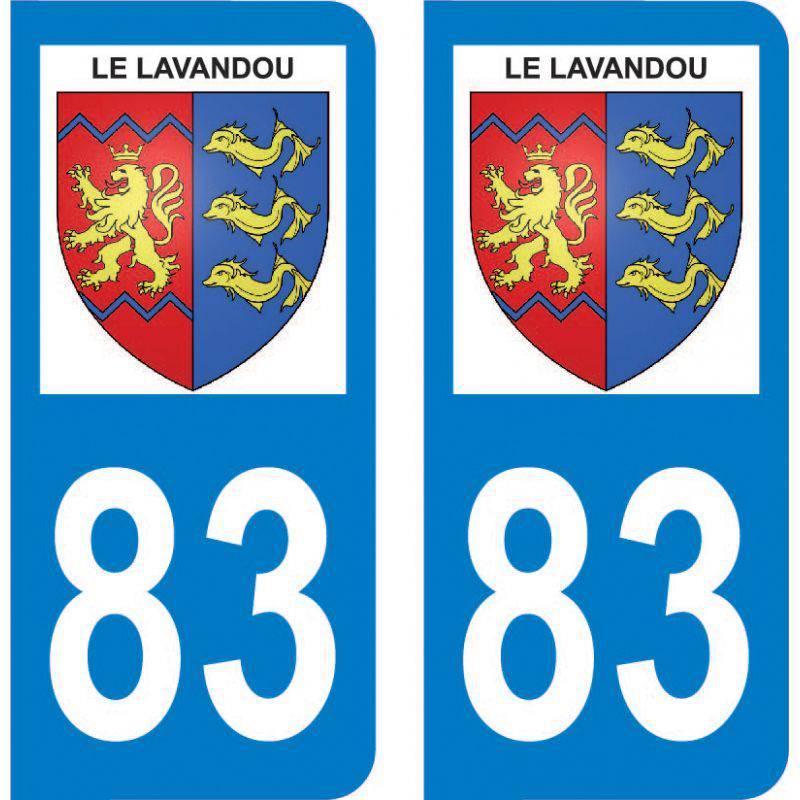 Autocollant Plaque Le Lavandou 83980