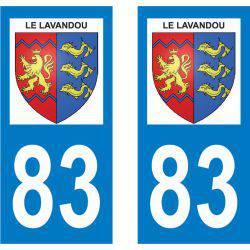 Sticker Plaque Le Lavandou 83980