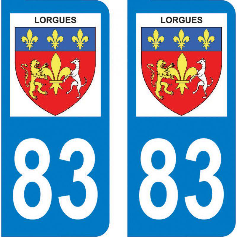 Autocollant Plaque Lorgues 83510