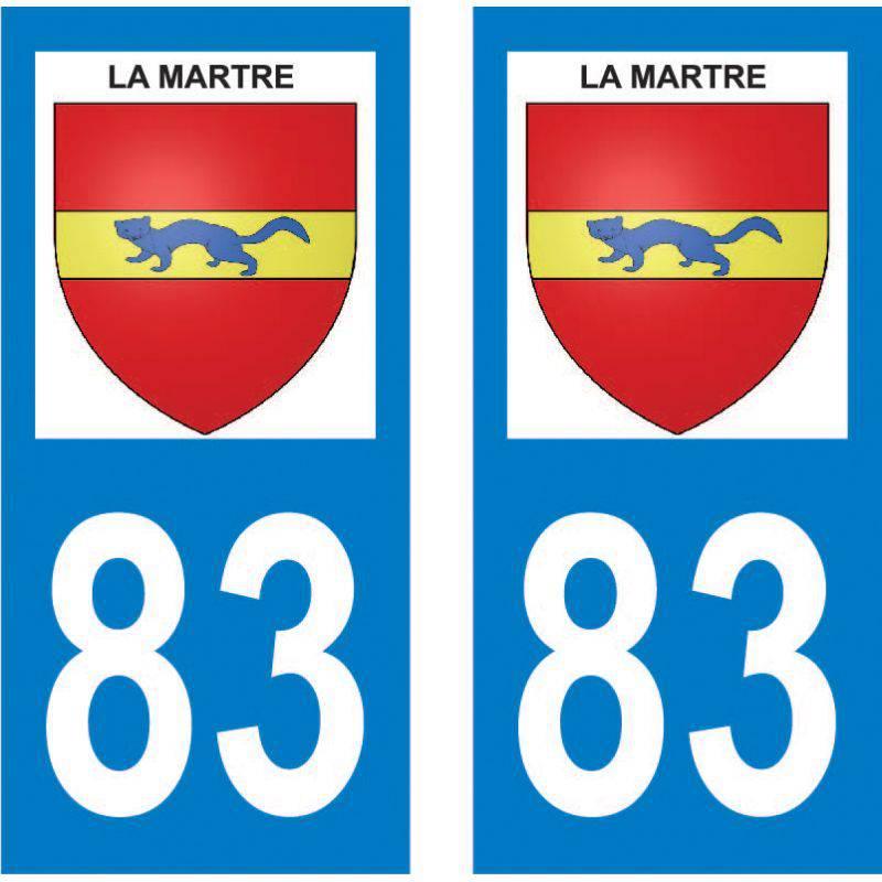 Autocollant Plaque La Martre 83840