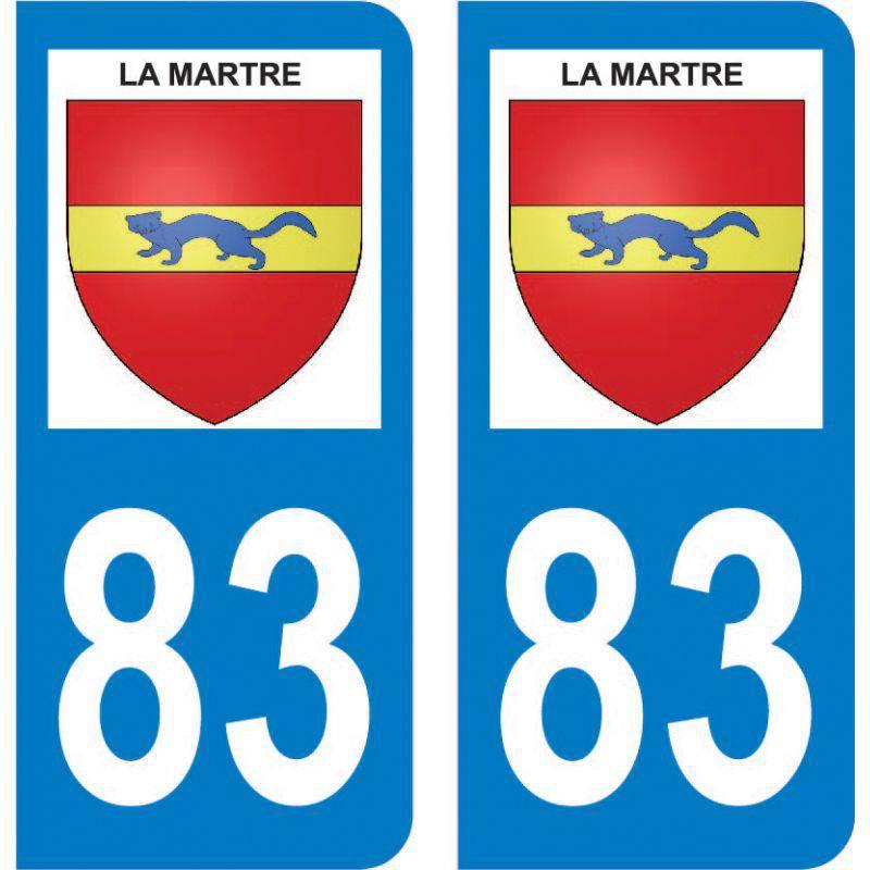 Sticker Plaque La Martre 83840