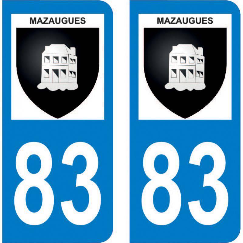 Autocollant Plaque Mazaugues 83136