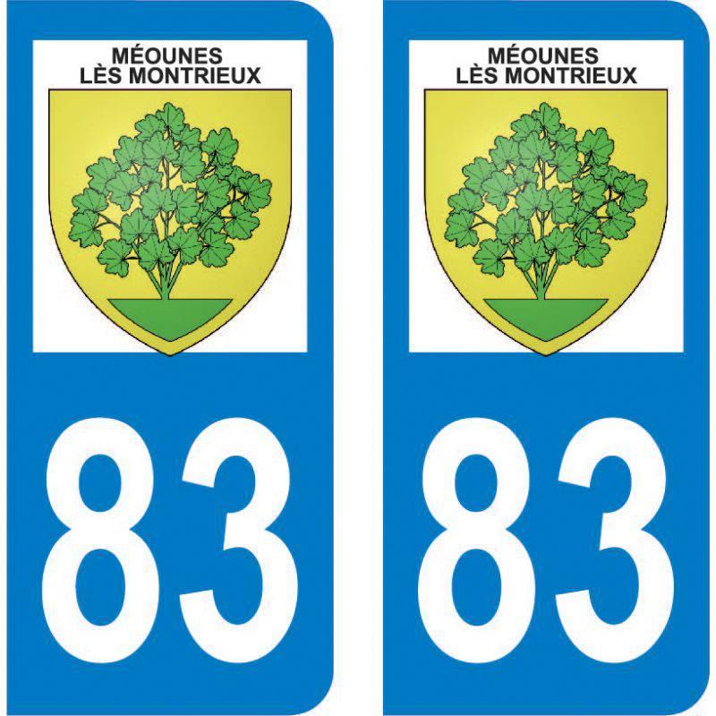 Autocollant Plaque Méounes-lès-Montrieux 83136