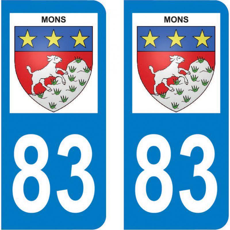 Autocollant Plaque Mons 83440