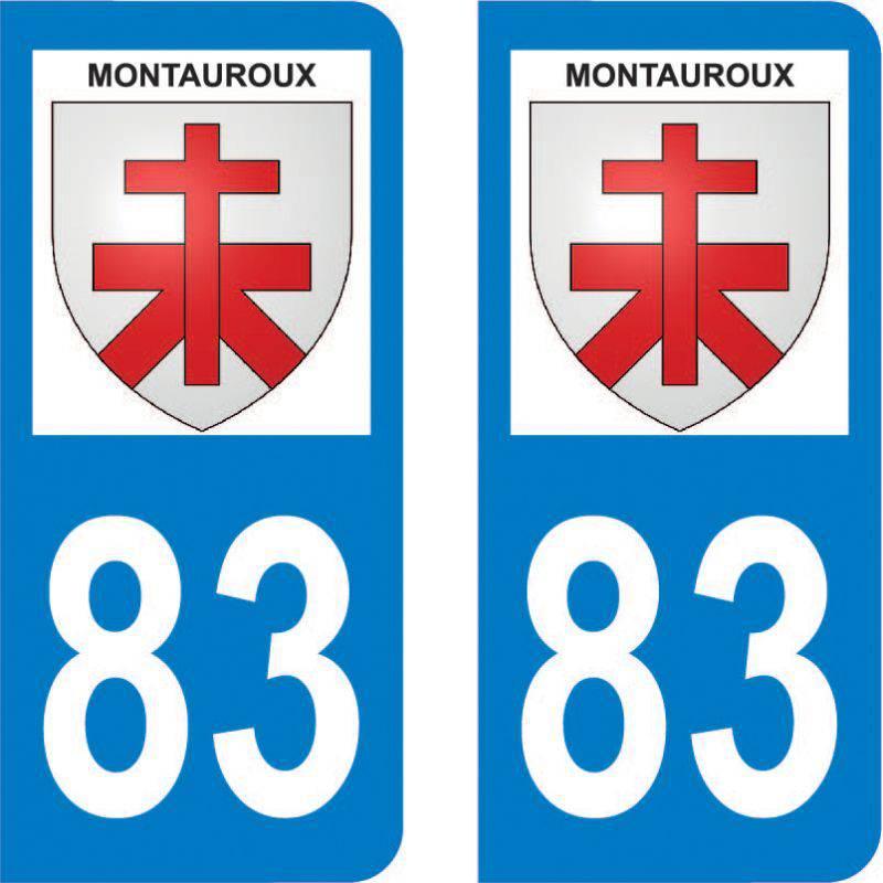 Autocollant Plaque Montauroux 83440