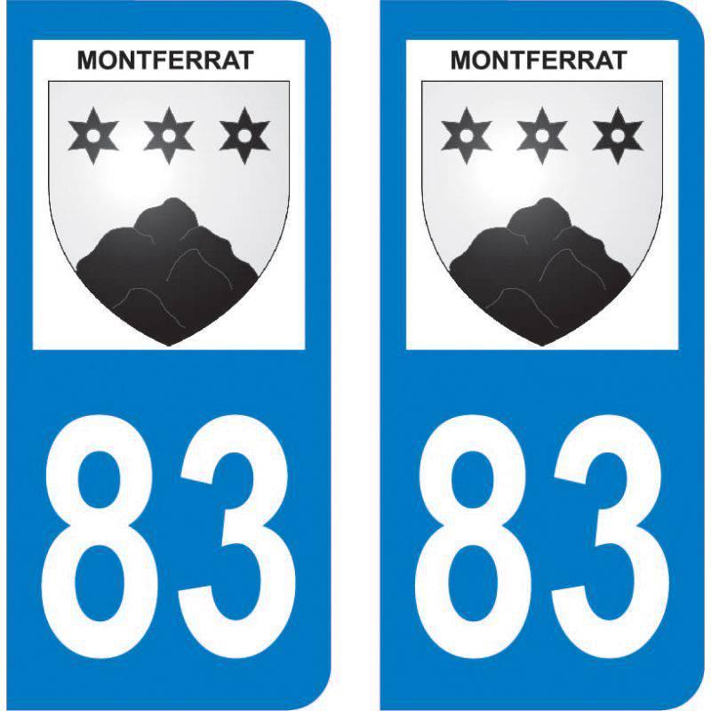 Autocollant Plaque Montferrat 83131